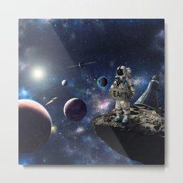 Stuck in Space Metal Print
