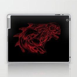 Skull creature (red line) Laptop & iPad Skin