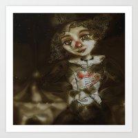 clown Art Prints featuring clown  by AliluLera