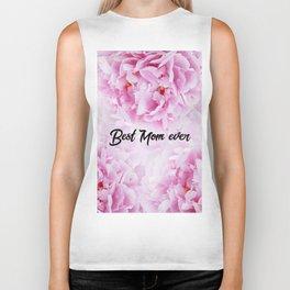 Pink Peonies Dream - Best Mom Ever #1 #floral #decor #art #society6 Biker Tank
