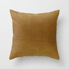 leather gold BEAUTY Throw Pillow