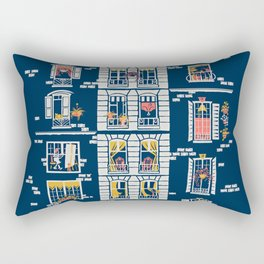 Paris Windows Art Rectangular Pillow