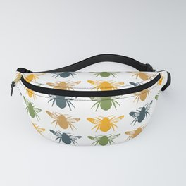 Honey Bees in yellow, gold and navy Fanny Pack