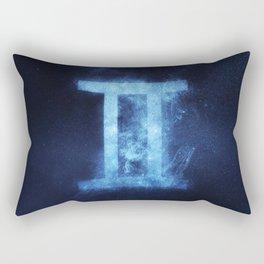 Gemini Zodiac Sign. Abstract night sky. Rectangular Pillow