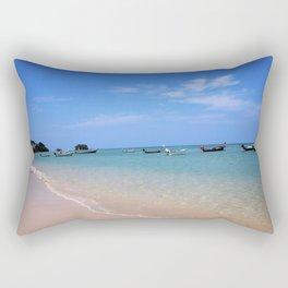 Nai Yang Beach Boats Rectangular Pillow