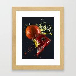 Fruits splash Framed Art Print