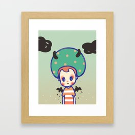 i need some courage Framed Art Print