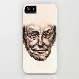 Old Man Portrait iPhone Case