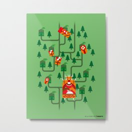 Santa Claus' Sleigh! Metal Print