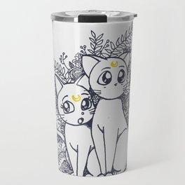 Moon Cats Travel Mug
