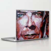 david bowie Laptop & iPad Skins featuring Bowie by Ray Stephenson