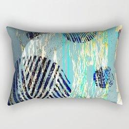 NL 6 17 Abstract Blue Grunge Ocean Rectangular Pillow