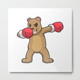 Bear as Boxer at Boxing & Hip Hop Dance Dab Metal Print