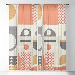 Mid-century no1 Sheer Curtain