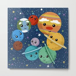 Out Of This World Cuteness (dark) Metal Print