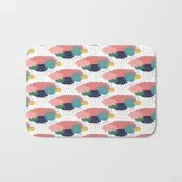 Cloudy shower pattern Bath Mat