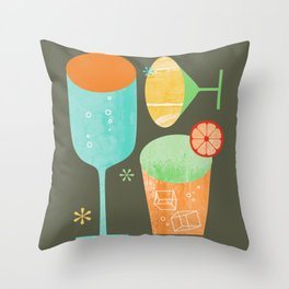 Pour & Drink Kitchen or Bar Art Throw Pillow