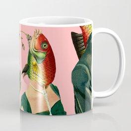 fish soul mate pink #collage Coffee Mug