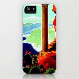 Vintage Taormina Italy Travel iPhone Case