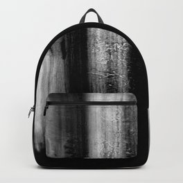 Black And White Bokeh Stripes Brush Strokes - Rad Backpack