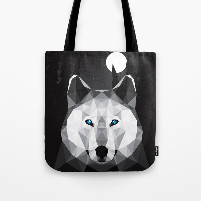 The Tundra Wolf Tote Bag
