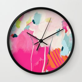 pink sky II Wall Clock