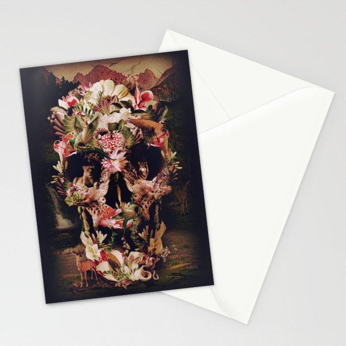 Jungle Skull Stationery Cards