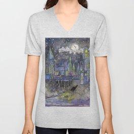 Hogwarts Castle Unisex V-Neck
