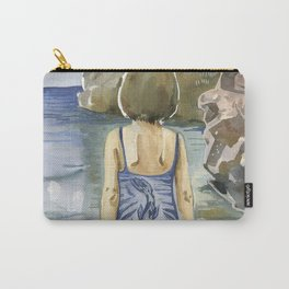 girl in the sea. Montenegro Carry-All Pouch