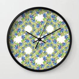 Wild Blueberries Lattice Wall Clock