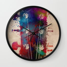 guitar art 5 #guitar #music Wall Clock