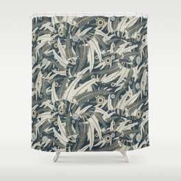 embroidered feathers Shower Curtain