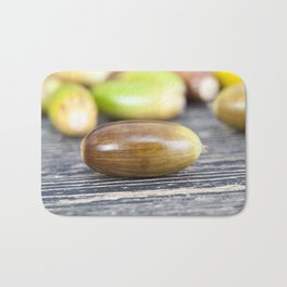 oak nuts - acorns Bath Mat