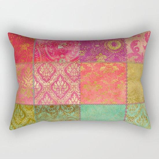 Royal Patchwork Rectangular Pillow