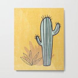 Simply Cactus Metal Print