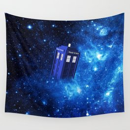 TARDIS SPACE OF TIME Wall Tapestry