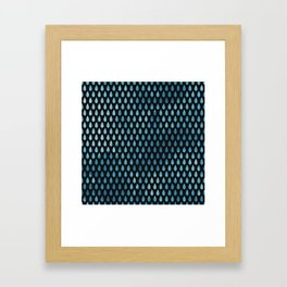Rain Drop Pattern Framed Art Print