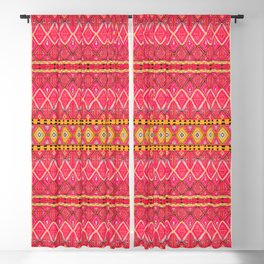 N212 - Pink Heritage Berber Boho Gypsy Traditional Moroccan Style Blackout Curtain