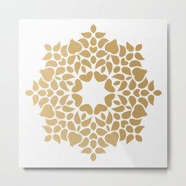 Abstract Background kaleidoscope golden effect Metal Print