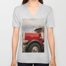 Red truck California Unisex V-Neck