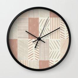 Rustic Tiles 02 Wall Clock