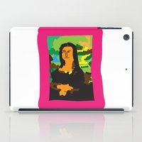 mona lisa iPad Cases featuring Mona Lisa by John Sailor