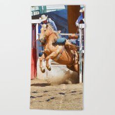 Breaking Out II - Rodeo Horse Beach Towel