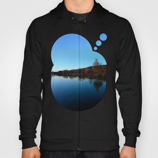 Indian summer sunset at the fishing lake | waterscape photography Hoody