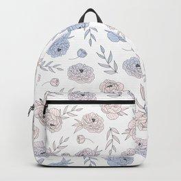Serenity and Rose Quartz Peonies Backpack