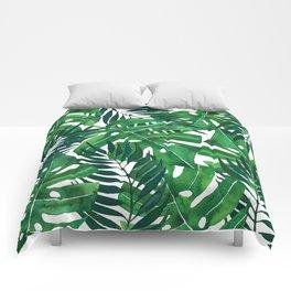 Jungle leaves Comforters