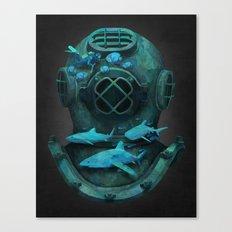 Deep Diving Canvas Print
