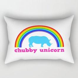 Chubby unicorn Rectangular Pillow