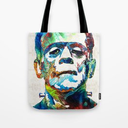 Frankenstein Art - Colorful Monster - By Sharon Cummings Tote Bag
