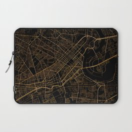Black and gold Ho Chi Minh map, Vietnam Laptop Sleeve
